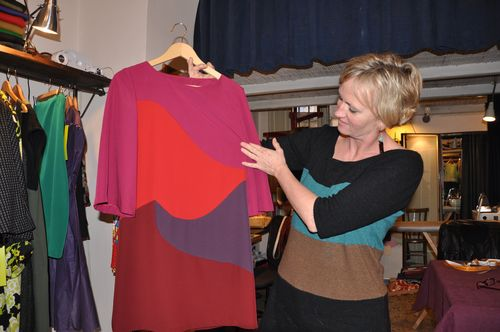 Tina Sondergaard at her shop on Via del Boschetto