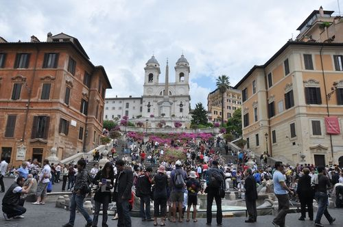 Spanish Steps in May, high season