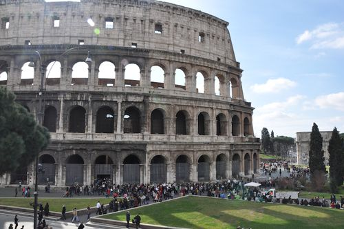 Line at the Colosseum