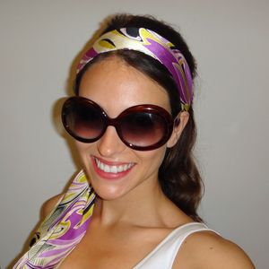 Vintage sunglasses and scarf