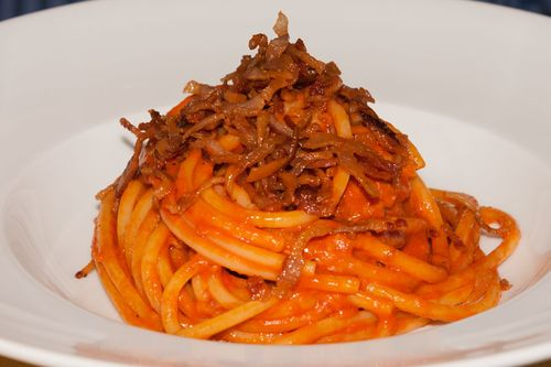 Amazing amatriciana in Rome