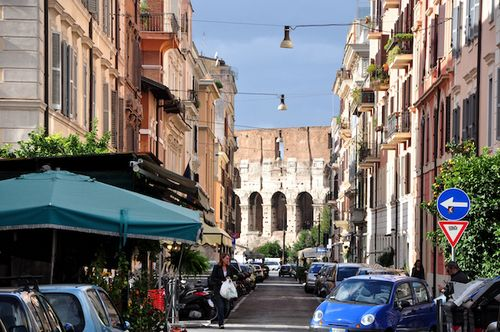 Celio neighborhood near Colosseum in Rome