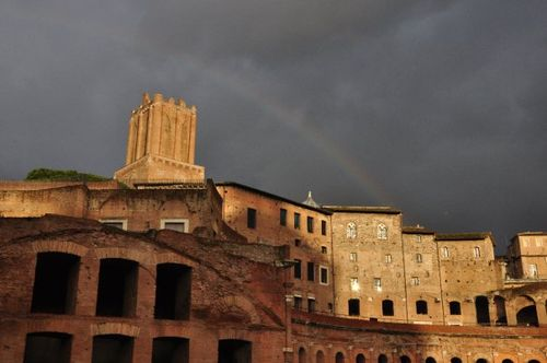 Rain at trajan's markets