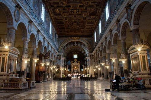 High ISO photo of church interior in Rome