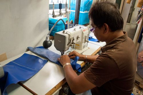 Leather workshop at Sistina 26