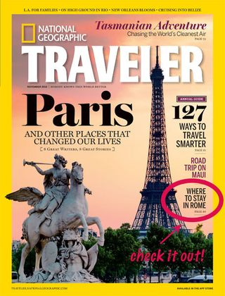 National Geographic Traveler Rome article
