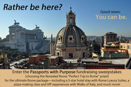 Passports with Purpose fundraiser Rome prize