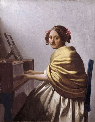 Vermeer painting at Rome exhibition