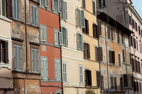 Old buildings in Rome
