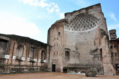 The temple of Venus and Rome, a romantic spot in Rome