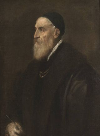 Self-portrait of Titian in Rome exhibit at Quirinale, Tiziano