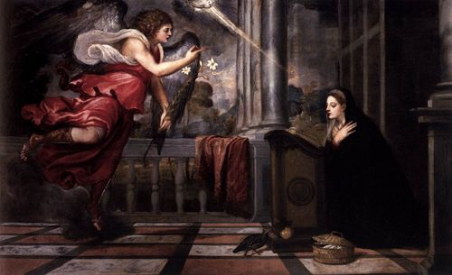 Titian's Annunciation in the Quirinale exhibit in Rome