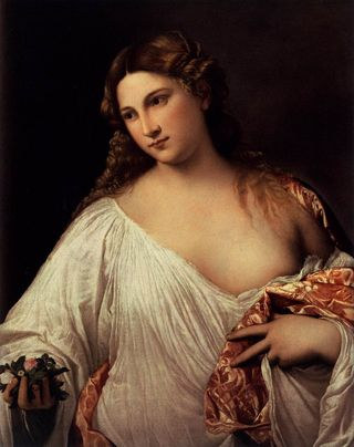 Flora, in the Titian exhibit in Rome