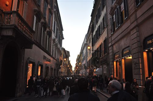 Via del babuino near Spanish steps