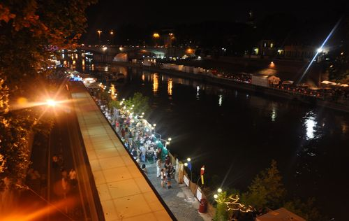 Tiber festival during summer in Rome
