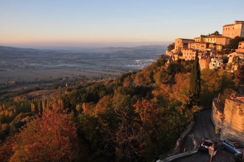 Italy in fall in Umbria