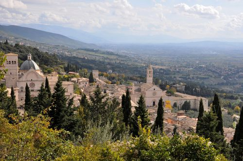 Italy in fall in Assisi