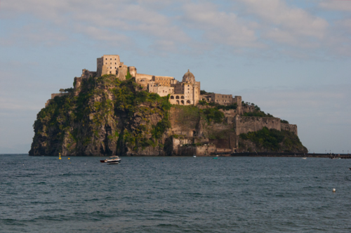 Castello Aragonese in Ischia, an island in the Bay of Naples