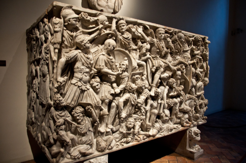 The Grand Ludovisi Sarcophagus, one of the gems of the collection in the Palazzo Altemps