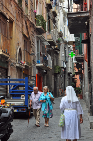 Daily life in Naples Italy