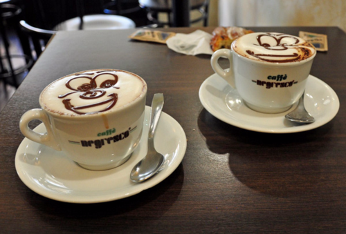 Coffee in Italy, sometimes cheerful!