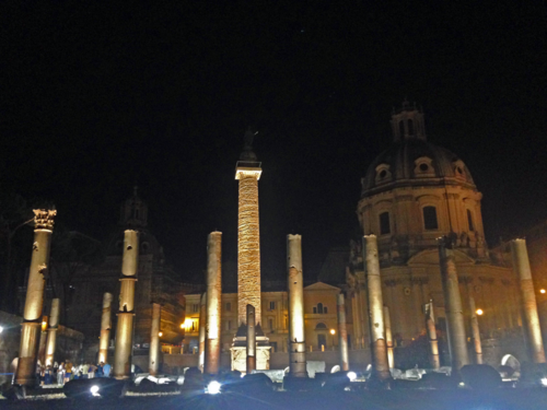 Imperial Forum at night